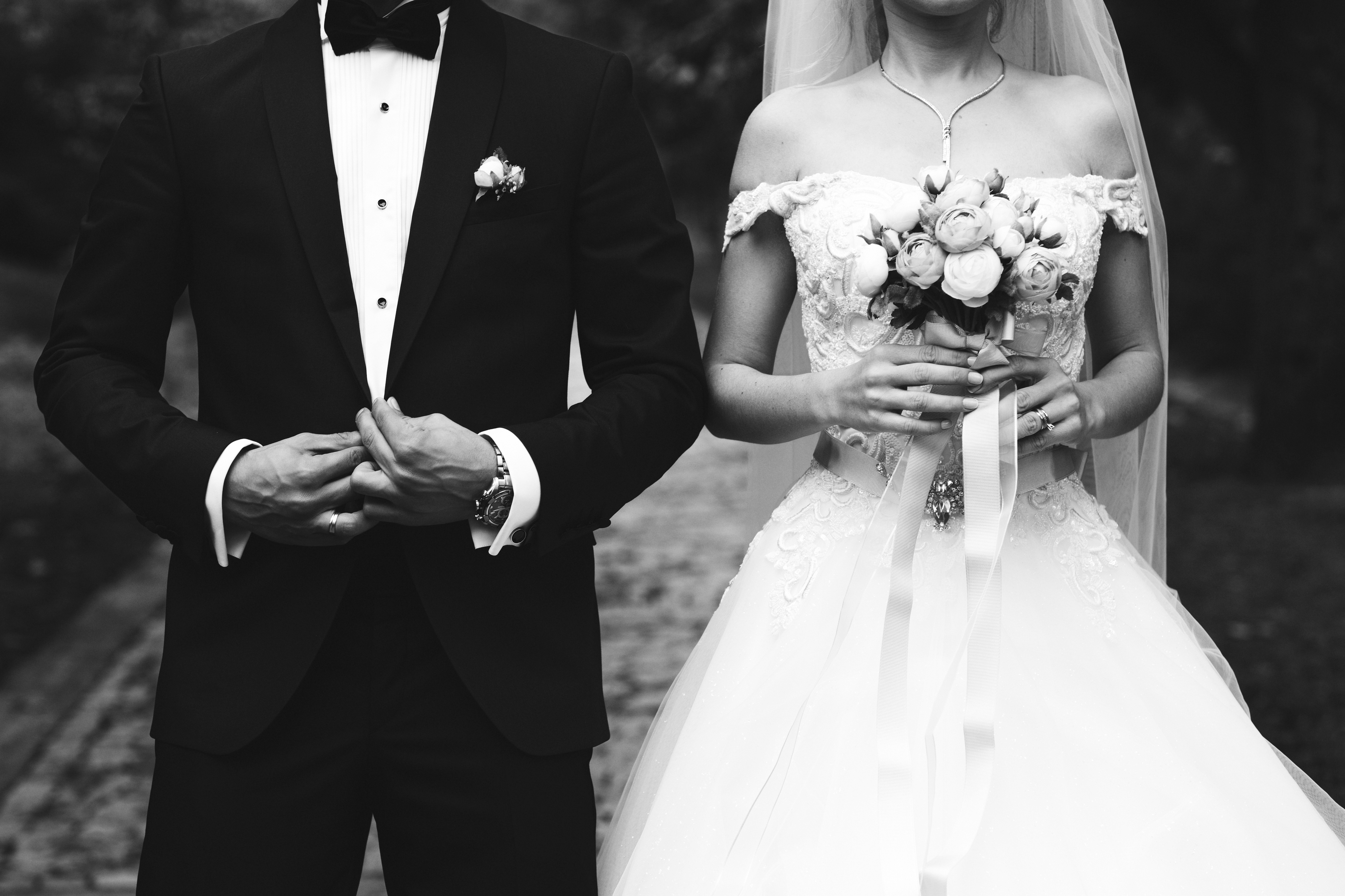 Bride and Groom, BW